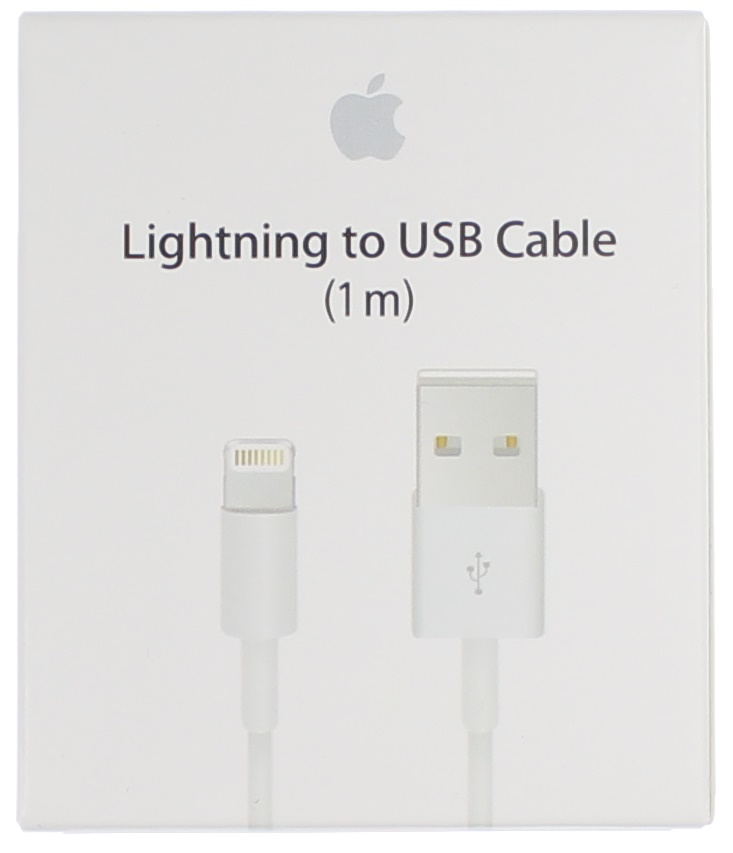 Дата-кабель USB Apple IPhone 5/ iPhone 5S/ Apple iPad Mini A1445/ Apple iPad 4 Белый